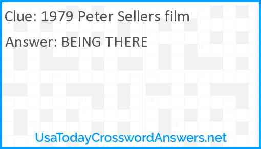 1979 Peter Sellers film Answer