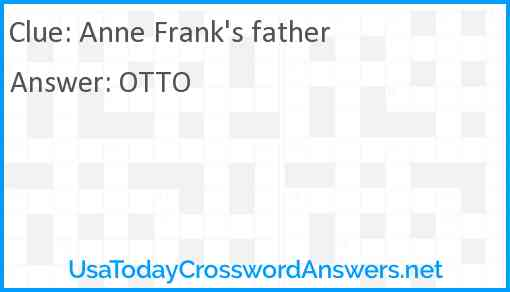 Anne Frank's father Answer
