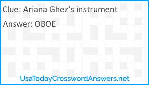 Ariana Ghez's instrument Answer