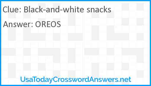 Black-and-white snacks Answer