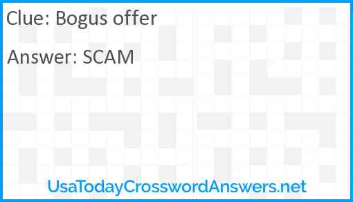 Bogus offer Answer