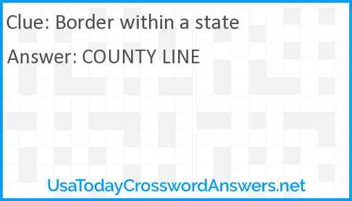 Border within a state Answer