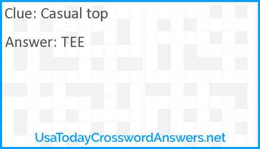 Casual top Answer