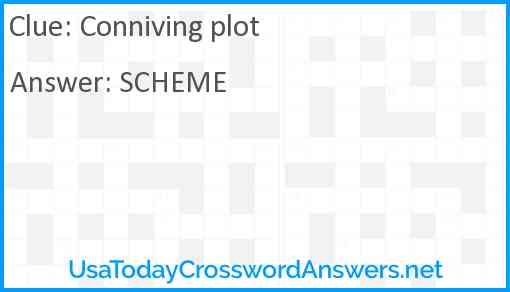 Conniving plot Answer