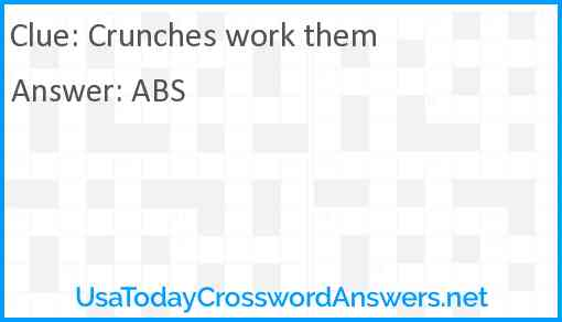 Crunches work them Answer