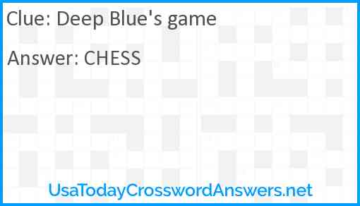 Deep Blue's game Answer