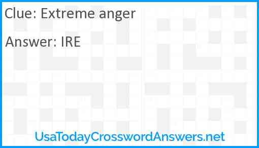 Extreme anger Answer