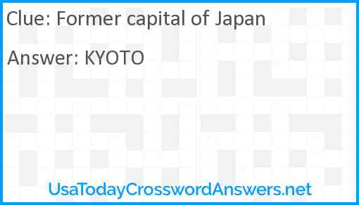 Former capital of Japan Answer