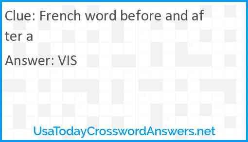 French word before and after a Answer
