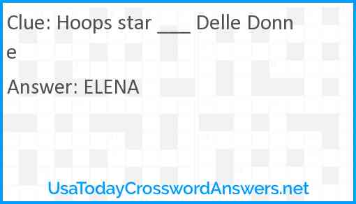 Hoops star Delle Donne Answer