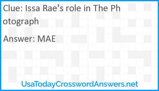 Issa Rae's role in The Photograph Answer
