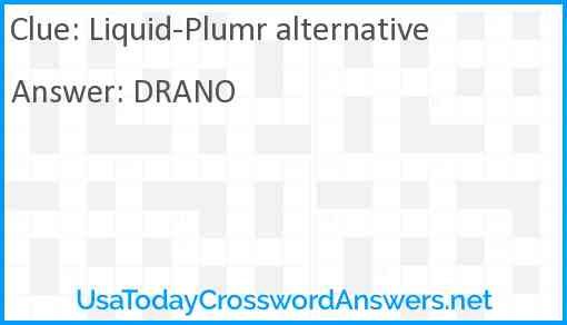 Liquid-Plumr alternative Answer