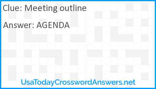 Meeting outline Answer