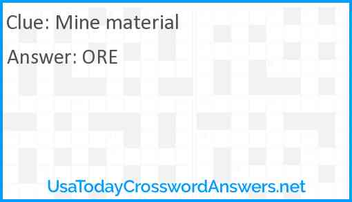 Mine material Answer