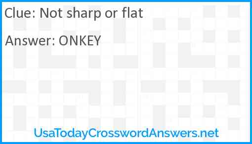 Not sharp or flat Answer