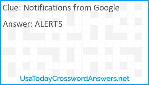 Notifications from Google Answer