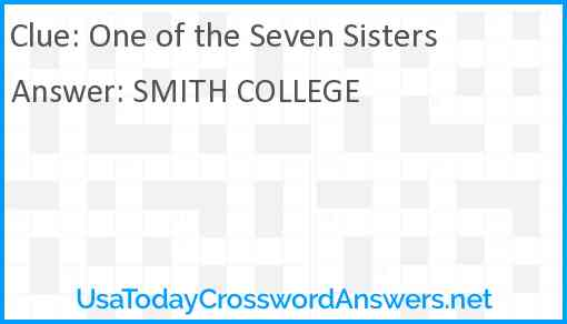 One of the Seven Sisters Answer