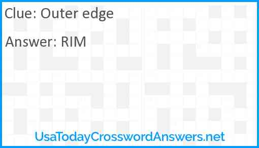 Outer edge Answer