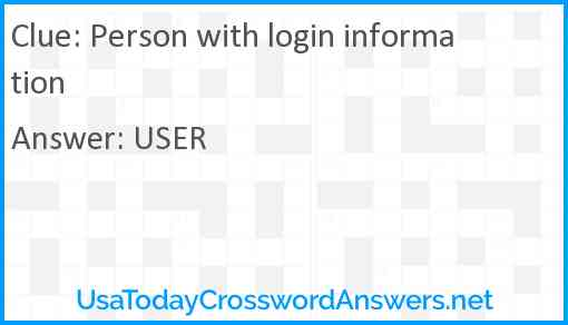 Person with login information Answer