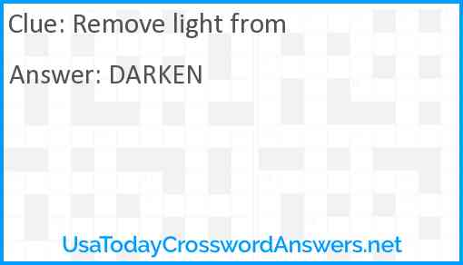 Remove light from Answer