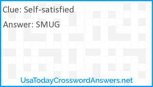 Self-satisfied Answer