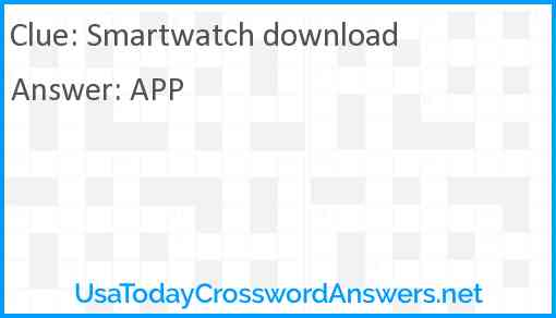 Smartwatch download Answer