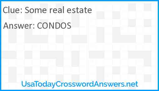 Some real estate Answer