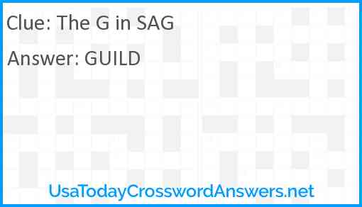 The G in SAG Answer