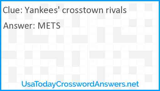 Yankees' crosstown rivals Answer