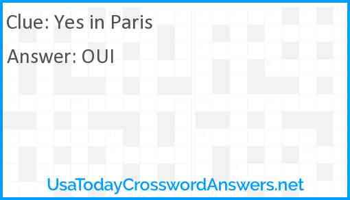 Yes in Paris Answer