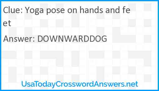 Yoga pose on hands and feet Answer