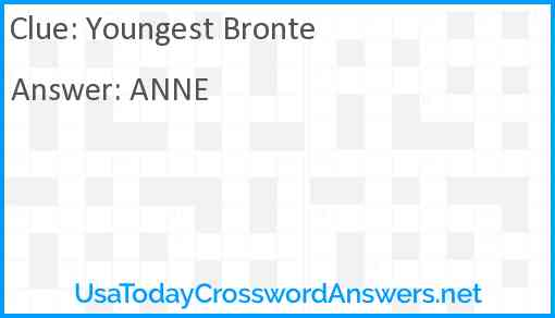 Youngest Bronte Answer